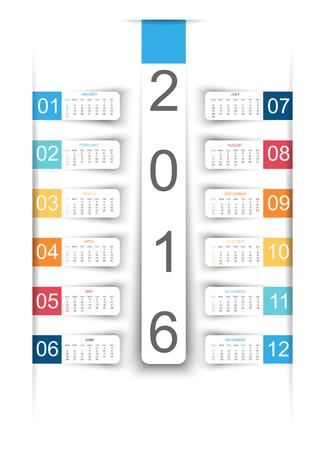 stiker: CALENDAR STIKER PAPER 2016