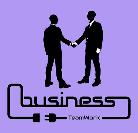 desig: BUSINESS TEAMWORK BACKGROUND POSTER DESIG DARK VIOLET