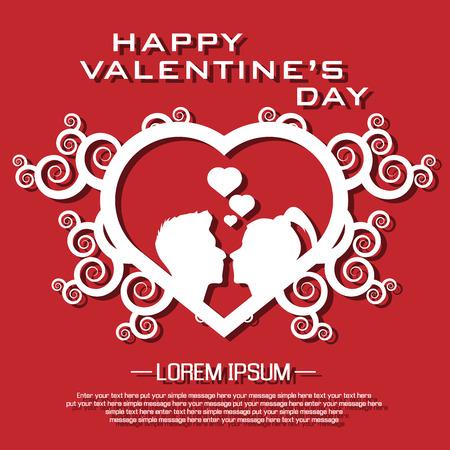st valentin: HAPPY VALENTINES DAY Illustration