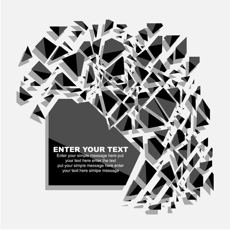 fifth: CRUSHED ELEMENTE TEMPLATE MESSAGE STICKER FIFTH EDITION Illustration