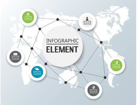 ELEMENT FOR INFOGRAPHIC CHART TEMPLATE GEOMETRIC FIGURE CIRCLE SECOND EDITION