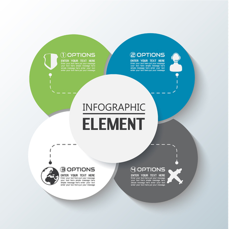 ELEMENT FOR INFOGRAPHIC CHART TEMPLATE GEOMETRIC FIGURE RIMS STACKED SECOND EDITION Illustration