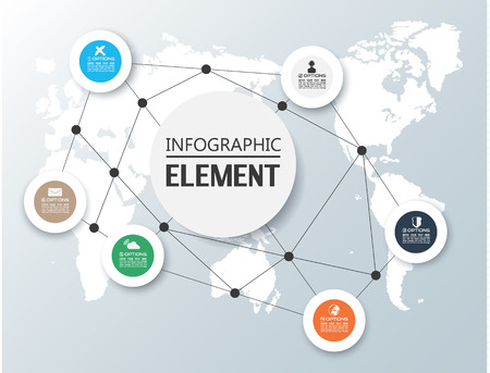 ELEMENT FOR INFOGRAPHIC CHART TEMPLATE GEOMETRIC FIGURE CIRCLE