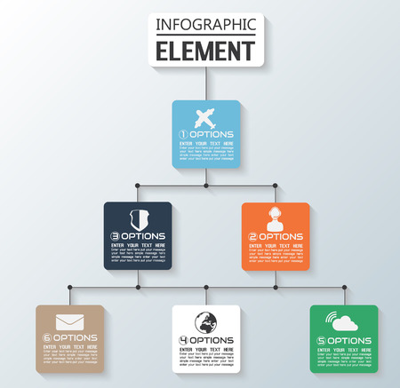 ELEMENT FOR INFOGRAPHIC CHART TEMPLATE GEOMETRIC FIGURE GRAPH FALL Illustration