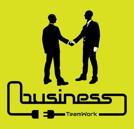 desig: BUSINESS TEAMWORK BACKGROUND FLYER POSTER DESIG YELLOW