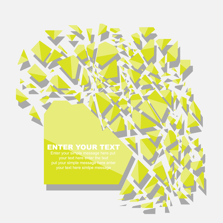 fifth: CRUSHED ELEMENTE TEMPLATE MESSAGE STICKER FIFTH EDITION YELLOW