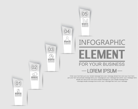 sucess: ELEMENT FOR INFOGRAPHIC  TEMPLATE  STIKER NUMBER OPTION LADDER OF SUCESS THIRD EDITION WHITE