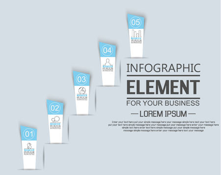 sucess: ELEMENT FOR INFOGRAPHIC  TEMPLATE  STIKER NUMBER OPTION LADDER OF SUCESS THIRD EDITION BLUE