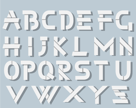 ORIGAMI ALPHABET STYLE WITH SHADOWS WHITE SIMPLE