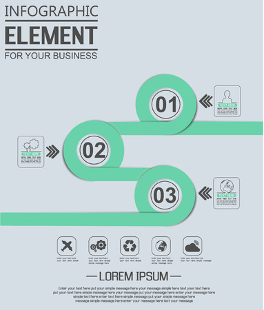 ninth: ELEMENT FOR INFOGRAPHIC  TEMPLATE GEOMETRIC FIGURE OVERLAPPING CIRCLES NINTH EDITION GREEN