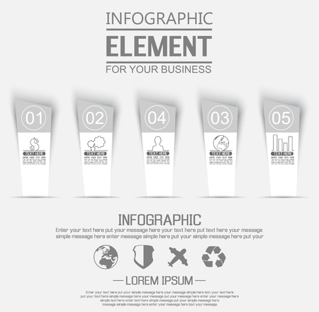 stiker: ELEMENT FOR INFOGRAPHIC  TEMPLATE GEOMETRIC FIGURE STIKER NUMBER OPTION THIRD EDITION WHITE