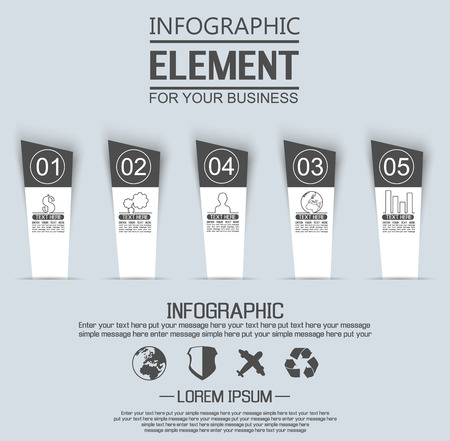 stiker: ELEMENT FOR INFOGRAPHIC  TEMPLATE GEOMETRIC FIGURE STIKER NUMBER OPTION THIRD EDITION BLACK