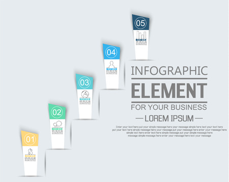 ELEMENT FOR INFOGRAPHIC  TEMPLATE  STIKER NUMBER OPTION LADDER OF SUCESS THIRD EDITION