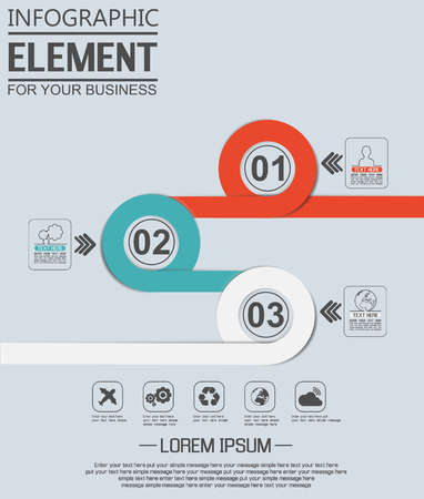 ninth: ELEMENT FOR INFOGRAPHIC  TEMPLATE GEOMETRIC FIGURE OVERLAPPING CIRCLES NINTH EDITION