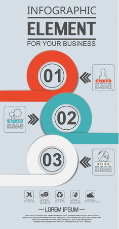 eighth: ELEMENT FOR INFOGRAPHIC  TEMPLATE GEOMETRIC FIGURE OVERLAPPING CIRCLES EIGHTH EDITION