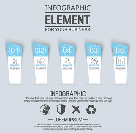 stiker: ELEMENT FOR INFOGRAPHIC  TEMPLATE GEOMETRIC FIGURE STIKER NUMBER OPTION THIRD EDITION BLUE Illustration