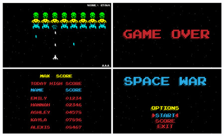 SPACE WAR GAME OLD STYLE RETRO VINTAGE