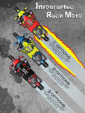 moto: INFOGRAPHIC RACE MOTO