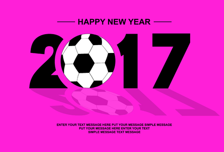 fuschia: 2017 HAPPY NEW YEAR FOOTBALL FUSCHIA
