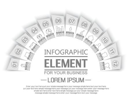 stiker: ELEMENT FOR INFOGRAPHIC  TEMPLATE GEOMETRIC FIGURE STIKER RAINBOW THIRD EDITION WHITE
