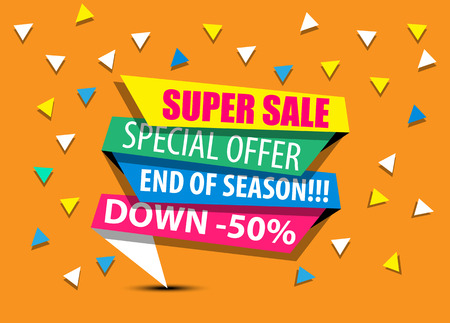 SALE,SUPER SALE,BIG SALE,DISCOUNT,50%,SHINING BANNER,SUPER OFFER FIFTH EDITION ORANGE