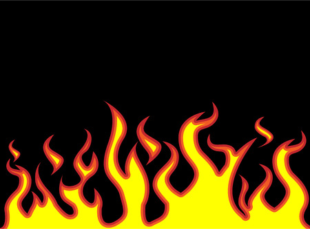 fire flames style carton