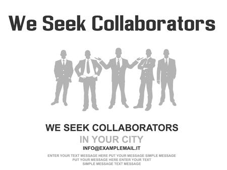 Business teamwork flyer poster design background grey Illustration