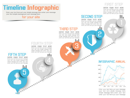 TIMELINE INFOGRAPHIC NEW STYLE  2 BLUE