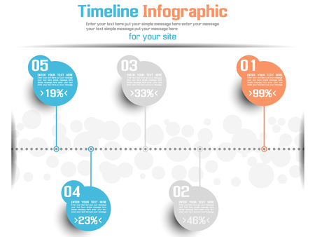 TIMELINE INFOGRAPHIC NEW STYLE  6 BLUE