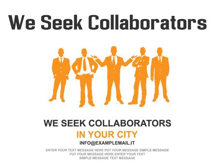 Business teamwork poster design