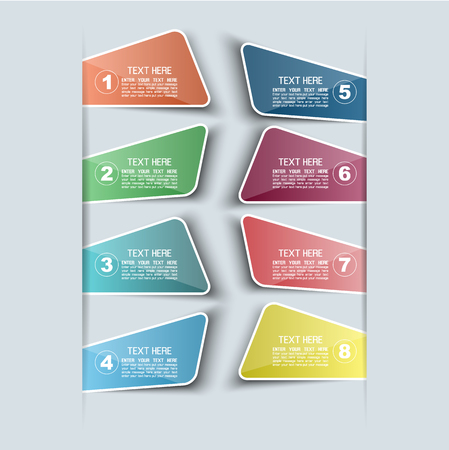 STICKERS TEMPLATE VECTOR NUMBER OPTION FOR WEB