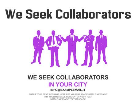 Business teamwork flyer poster design background violet