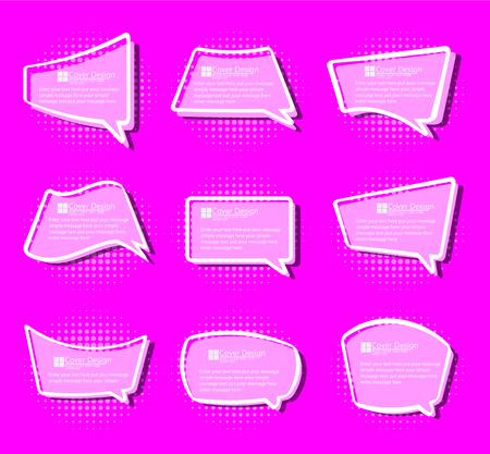 stiker: Comics stiker simple label etiquette cartoon violet