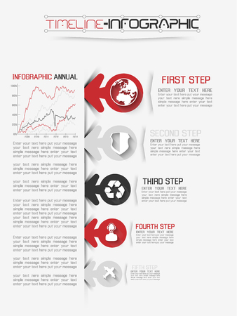 calendar design: TIMELINE INFOGRAPHIC NEW STYLE  13 RED