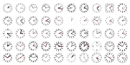 Collection of simple black and white watches