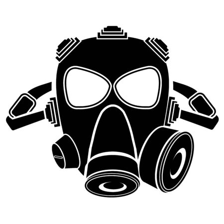 Safety breathing masks Corona Virus. Industrial safety n95 mask, dust protection respirator and breathing medical respiratory mask