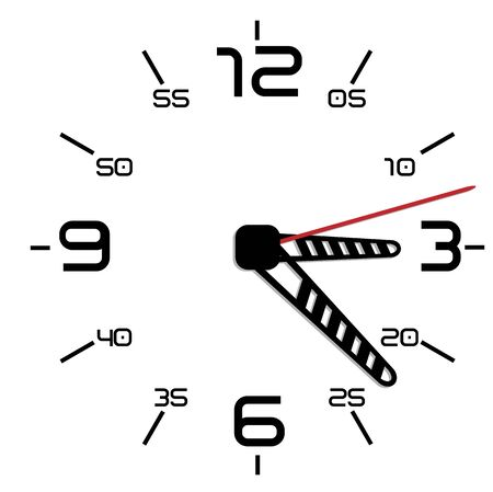Simple black and white twentieth edition clock