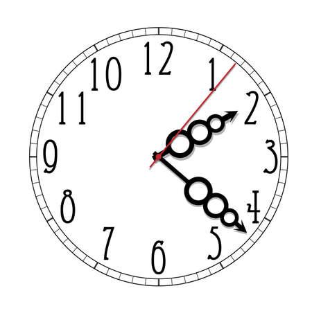 Simple black and white watch eleventh edition Vektorgrafik