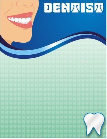 layout: Dentist ad Layout Stock Photo