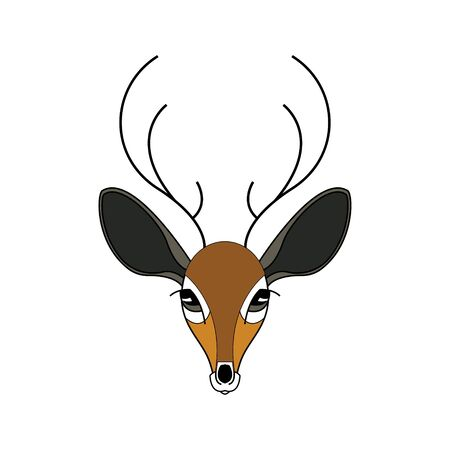 The face of a doe. Cartoon style. Color drawing. Vector illustration. Illusztráció