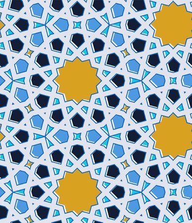 Eastern Islamic traditional mosaic. Seamless pattern. Vector illustration.