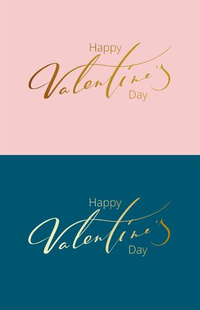 Card in a bouquet of Happy Valentine's Day . Vector illustration.