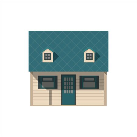 Little house. In the style of flat. Vector illustration.