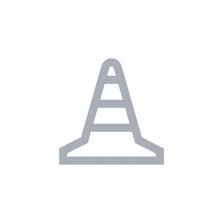 Traffic cone outline simpe icon. Vector illustration 向量圖像