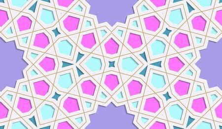 Festive colorful background. Ramadan Kareem. Islamic art. Banco de Imagens - 147988610