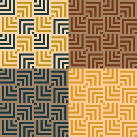set geometric abstract vintage pattern, Vector illustration Banco de Imagens - 147988617