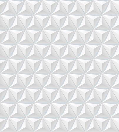 White 3d background. Pyramid pattern. Vector illustration Ilustração
