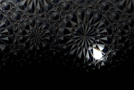 Black embossed background with a luminous element. Vector illustration Banco de Imagens - 147898076
