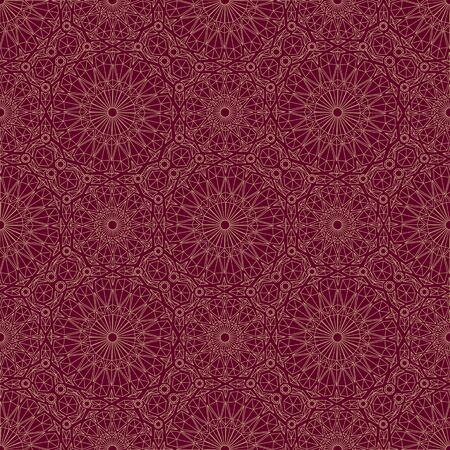 Arabic red ornament. Seamless pattern. Vector illustration