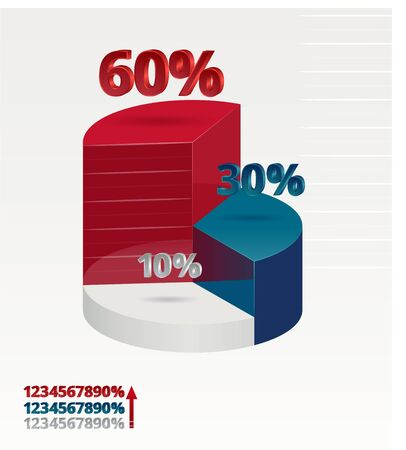 stock vector illustration template isometric infographics interest Ilustração